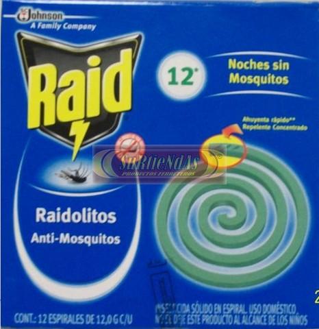 Insecticida raidolitos 12 piezas surtiendas insecticidas for Raid casa y jardin